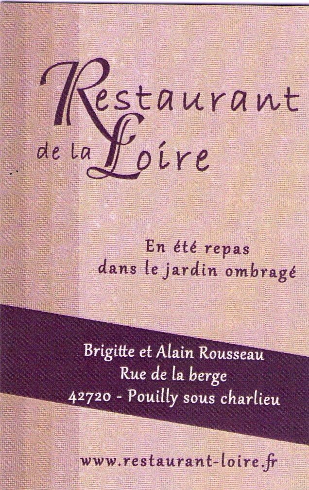 Carte Restaurant de la Loire