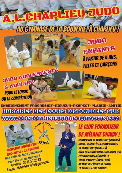 Affiche rentree alcharlieu judo