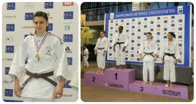 Mélanie DHAIBY sur le podium des championnats de France de Judo 2015
