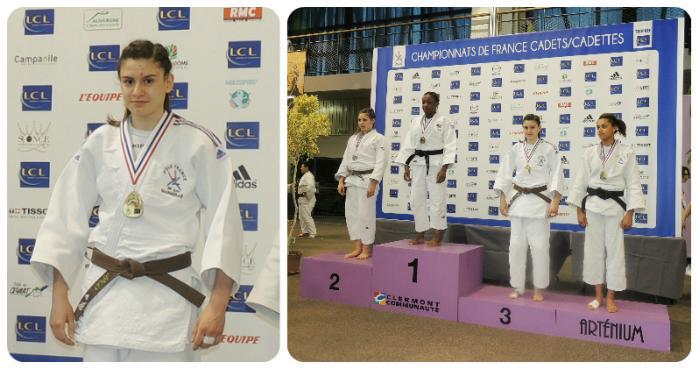 Mélanie DHAIBY sur le podium des championnats de France de Judo
